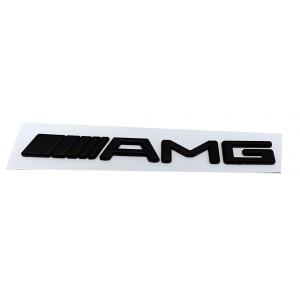 LOGO,Emblemat ,znak ,napis AMG czarny matowy na tył do Mercedesa