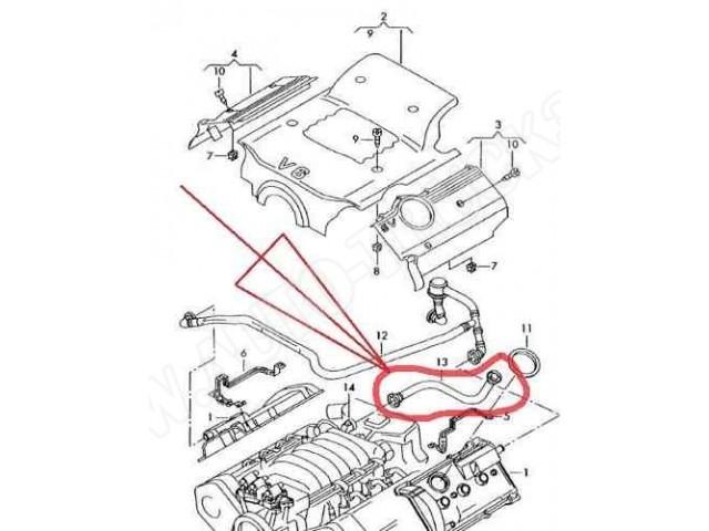 Przewd Odmarurka Odpowietrzenia Pokrywy Rozrzdu Silnika Audi A4