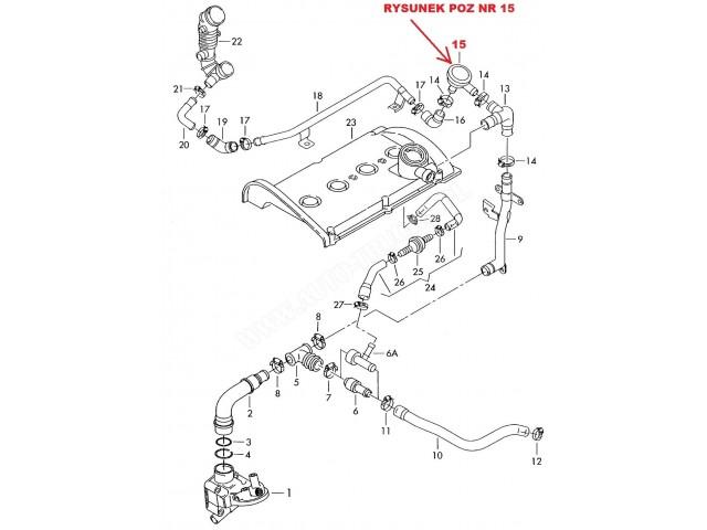 Zawr Odma Skrzyni Korbowej Silnika Audi A3a4a6ttseat Leonskoda