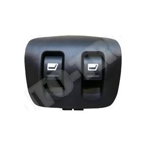Włącznik podwójny-panel-przełącznik opuszczania i podnoszenia szyb w drzwiach przednich lewych i prawych Peugeot 206,207