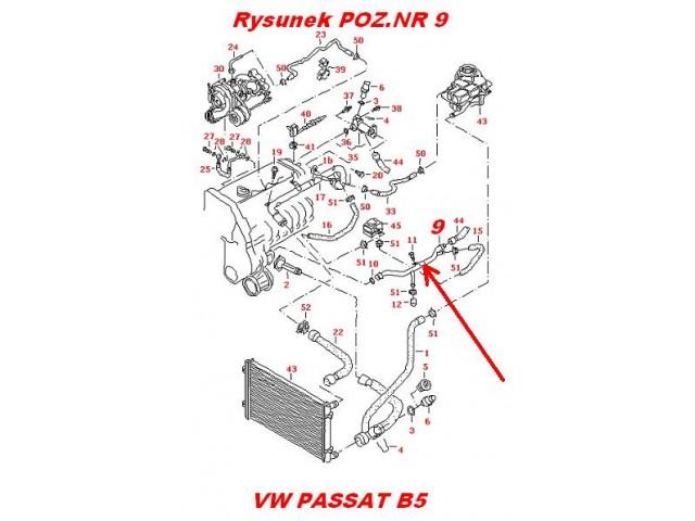 Przew 243 D Powrotny Rurka Metalowa Układu Chłodzenia Silnika Audi A4 A6 Skoda Superb Vw Passat B5 1