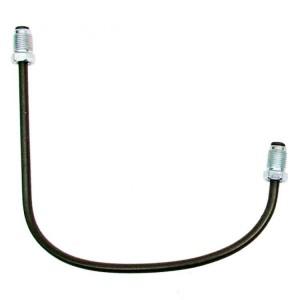 Przewód hamulcowy-rurka metalowa wspornika zacisku hamulcowego LEWY przedniego koła SKODA 105,120,130