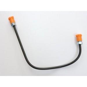 Przewód hamulcowy-rurka metalowa wspornika zacisku hamulcowego PRAWY przedniego koła SKODA 105,120,130